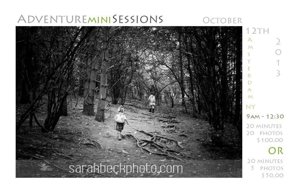 Adventure Mini Sessions $50.00-$100
